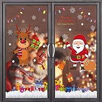 Flysee Pegatinas Navidad para Ventanas, adornos navideños, Pegatina Copo de Nieve Navidad, Decoración de Navidad para…