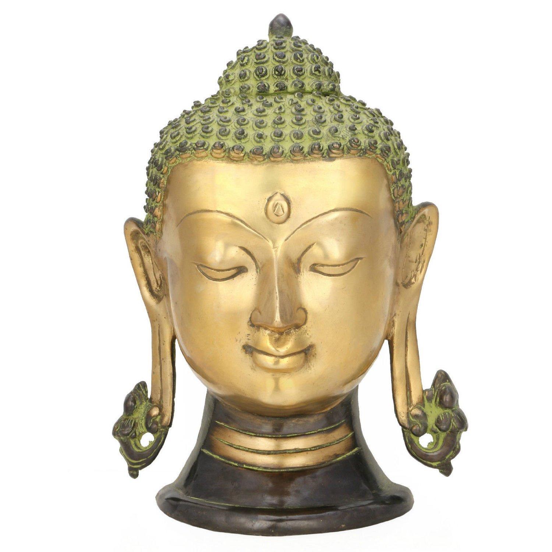 Amazon.com: AapnoCraft Large Buddha Head Wall Sculpture - Long Ear ...