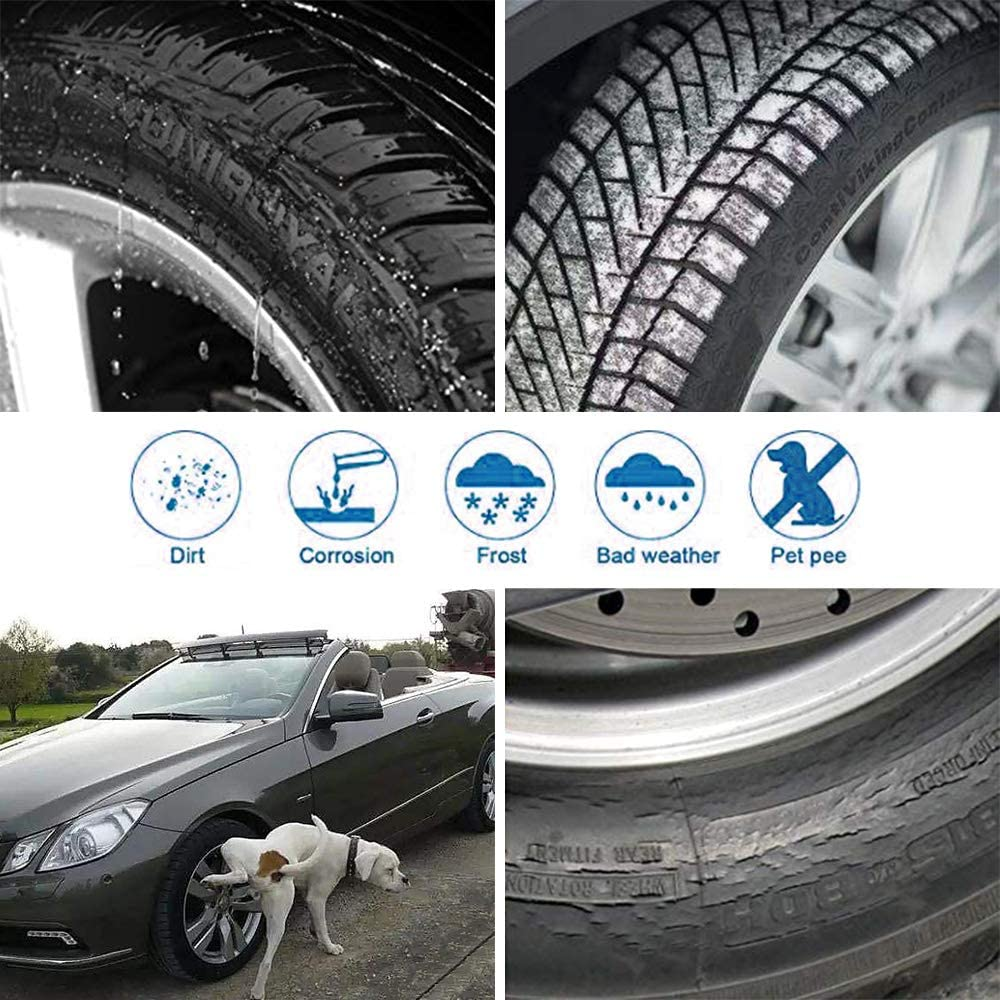 Fits 27-29 Inch Diameters GES Tire Covers for Trailers Set of 4 Waterproof Tire Covers for RV Spare Wheel Tire Covers Aluminum Trailer Tire Protectors