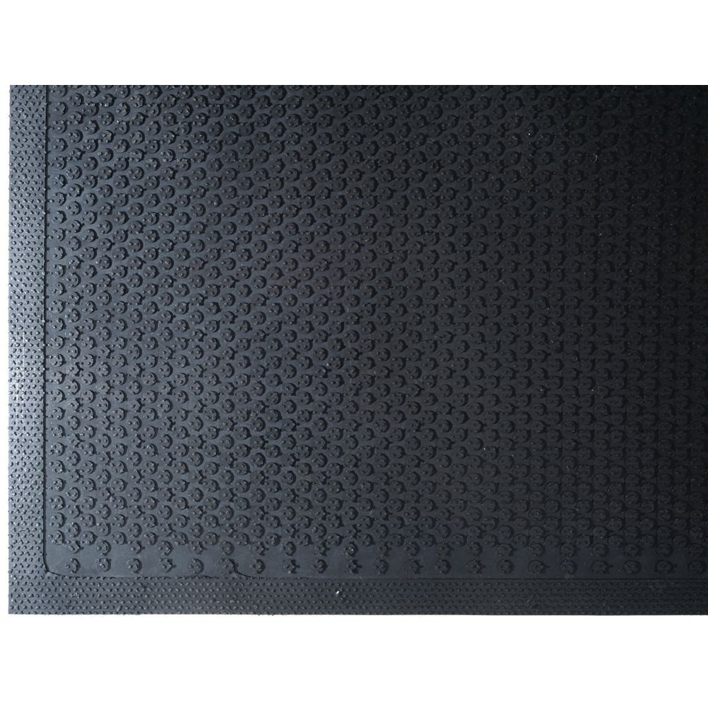 Andersen 545 Safety Scrape Nitrile Rubber Entrance Indoor/Outdoor Floor Mat, 6' Length x 4' Width, 1/8'' Thick, Black