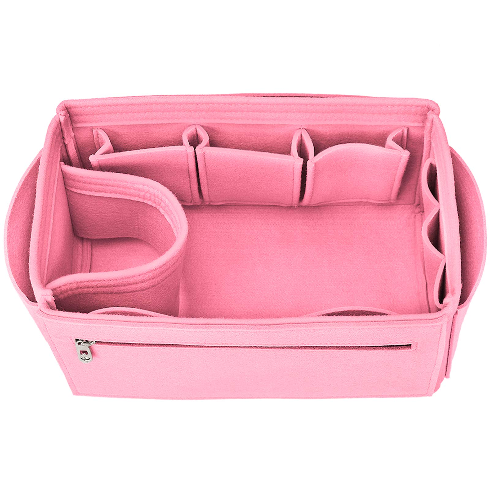 Hokeeper Felt Purse Insert Organizer, Handbag Organizer, Bag in Bag, Diaper Bag Organizer, Fit Speedy 25-40, Neverfull, 12 Pockets, 4 Sizes, 5 Colors