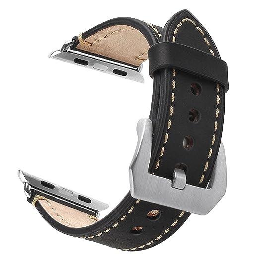 4 opinioni per Apple Watch 42mm Cinturino, ZRO Annata Vera Pelle Sostituzione Cinturino