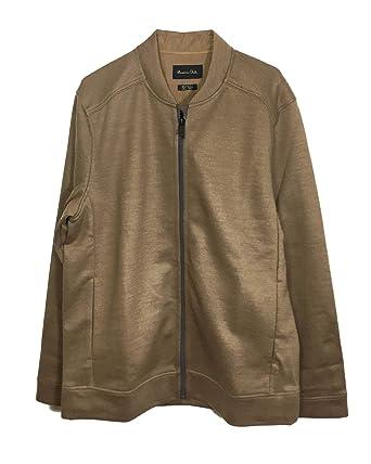 0e863e140 MASSIMO DUTTI Men's Bomber-Style Jacket 0748/156 Brown: Amazon.co.uk ...