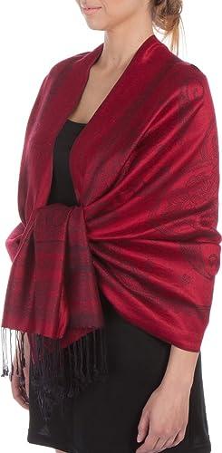Sakkas leggero Two Tone Paisley design Pashmina Fringe sciarpa / Stole / Wrap