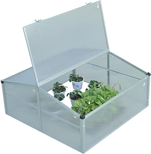 Garden Natural Wood Cold Frame Approx Size 100 x 65 x 40cm