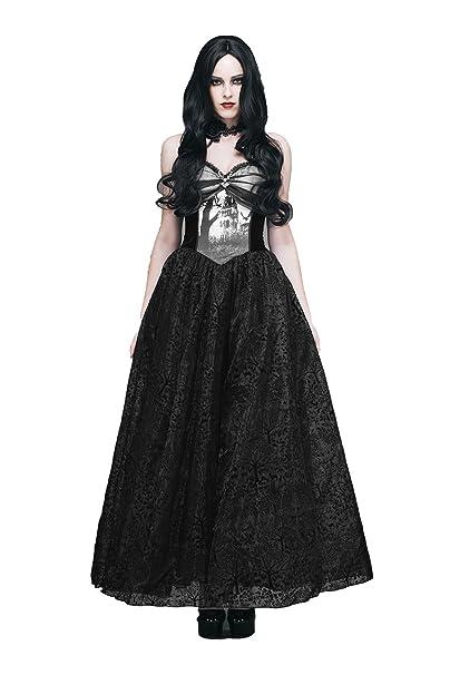 2ebc1d13849 Amazon.com  Evalady Gothic Prom Long Dresses for Women Misty Forest Big  Sweep Flower Bandage Party Dress  Clothing