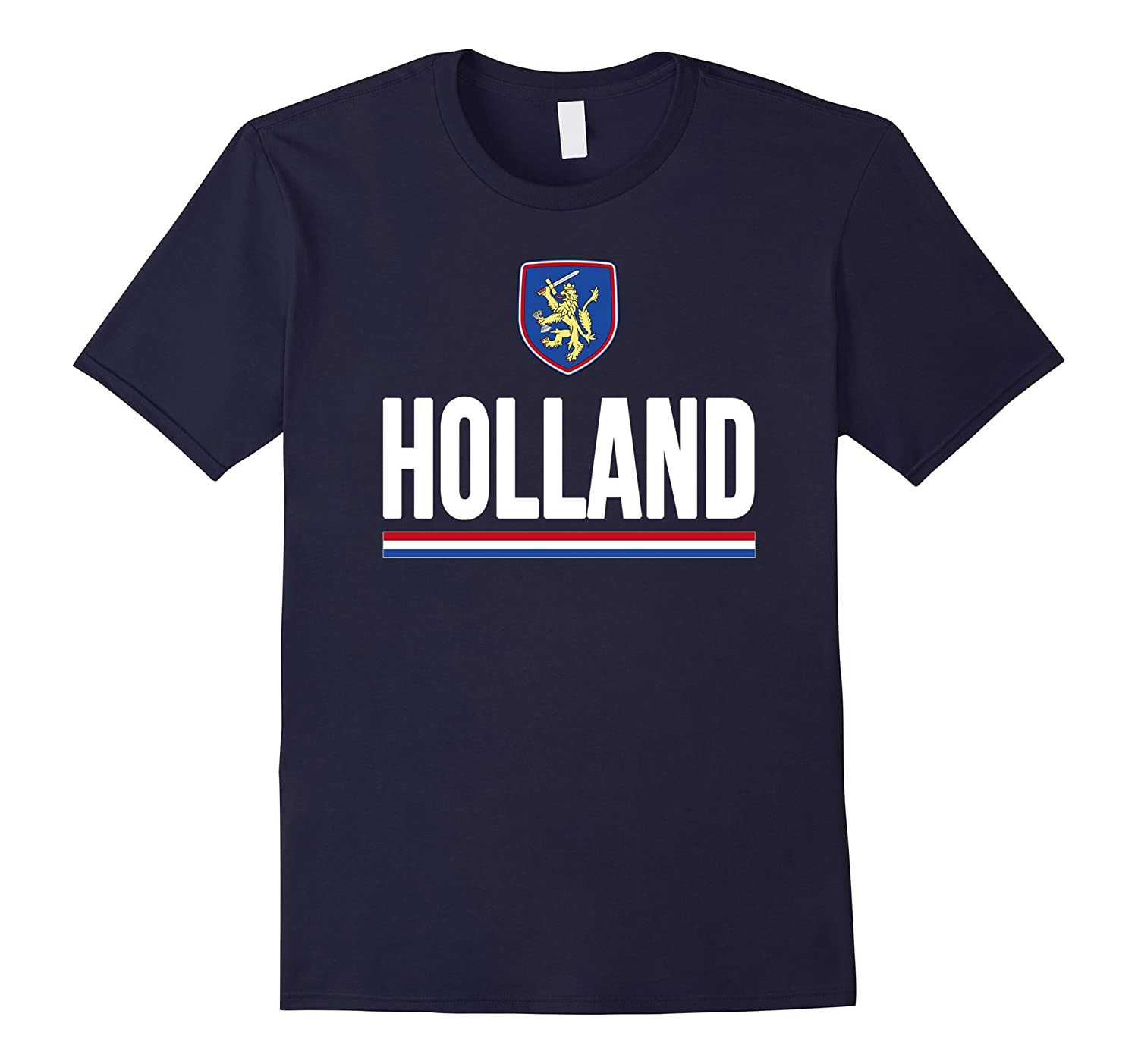 Holland T-shirt Netherlands Flag Souvenir Travel Vacation-TD