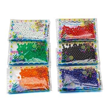 d1ea284e4 24 bolsas de bolas de gel ecológicas para decoración de jarrones:  Amazon.es: Hogar