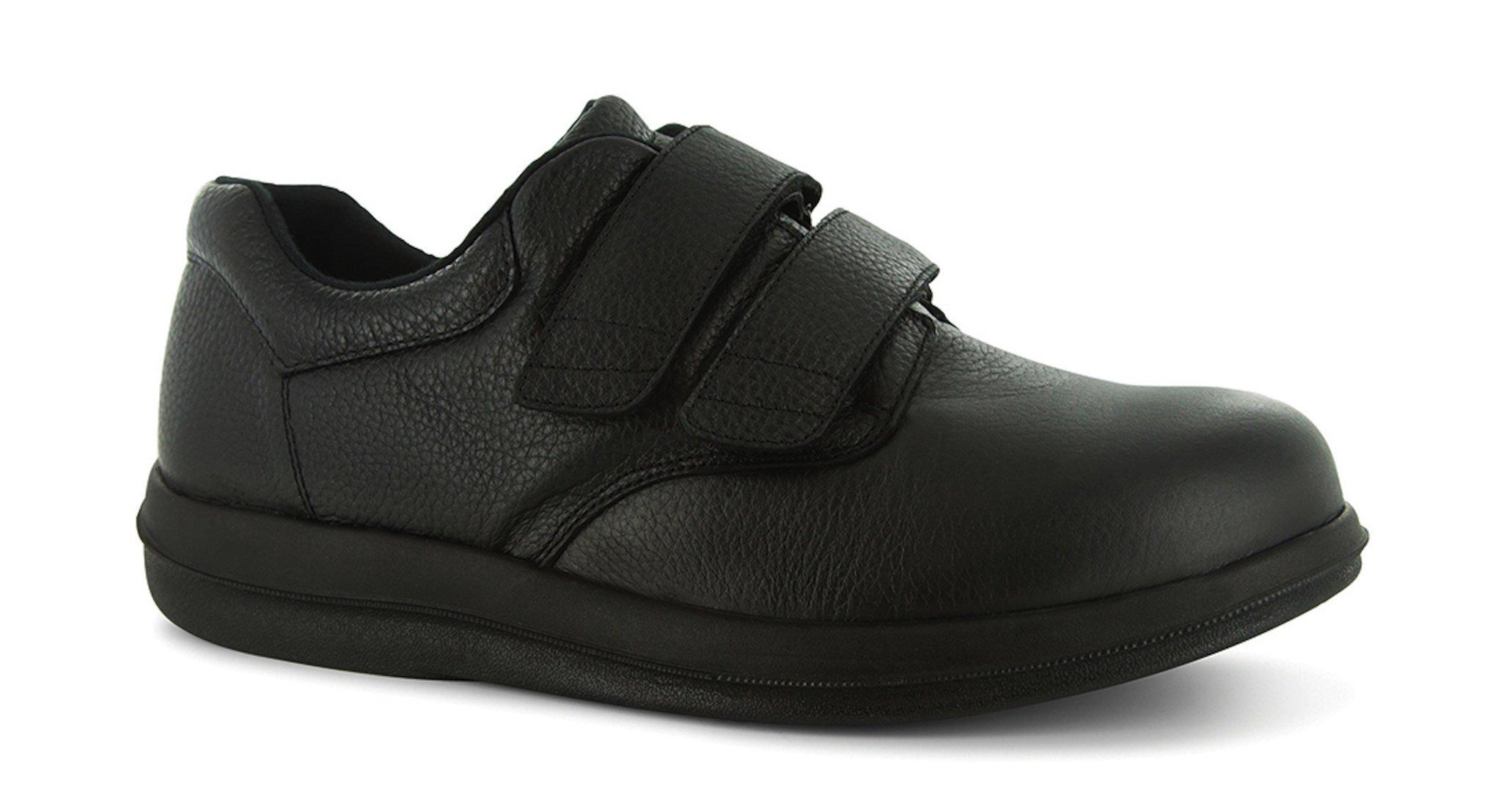 P W Minor Leisure Time Men's Therapeutic Extra Depth Shoe: Black 14 XX-Wide (5E) Velcro