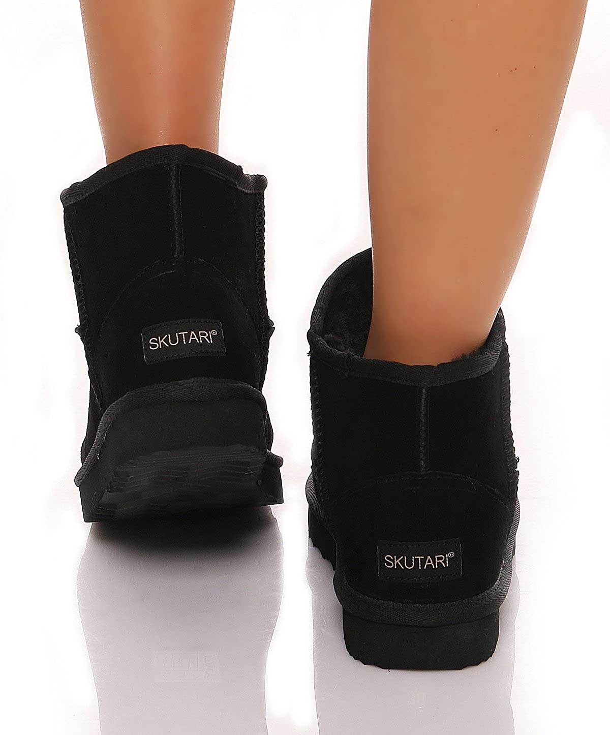 SKUTARI SKUTARI SKUTARI original Classic Stiefel handgefertigte italienische Lederstiefel für Damen mit gemütlichem Kunstfell rutschhemmender Außensohle und Gepolsterter Innensohle 1d16be