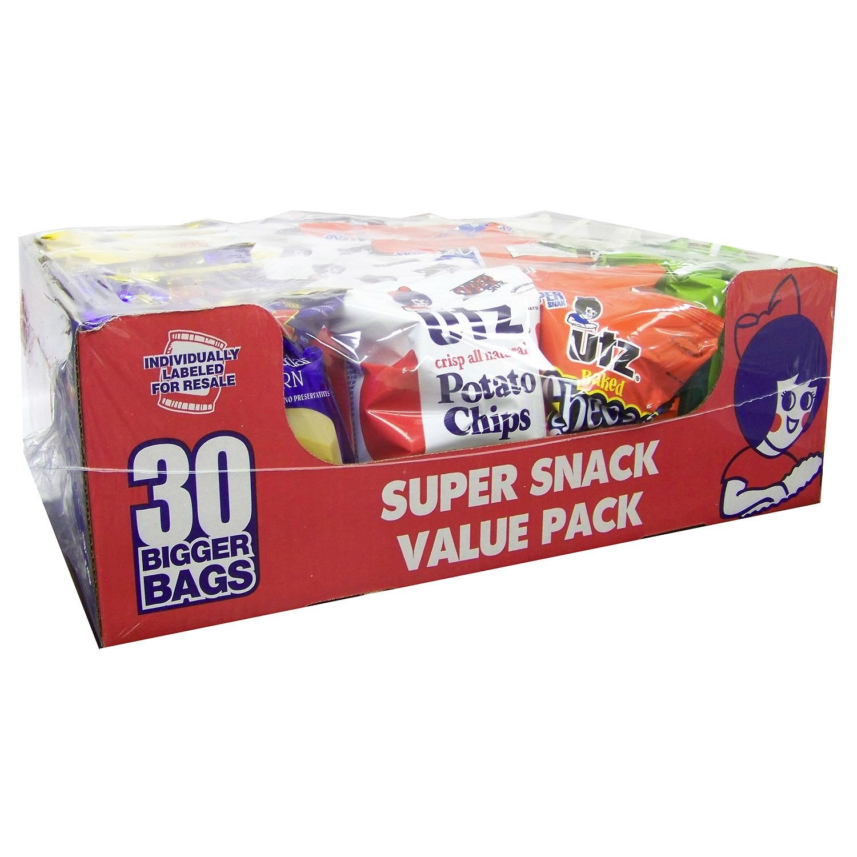 Utz 54.5 oz Super Snack Variety Pack - 30 ct. (pack of 6)