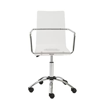 clear desk chair with wheels office on uk euro style acrylic adjustable chromed base