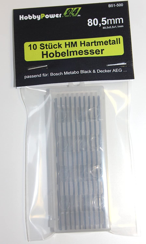 MFF81 MFF81K 10 St/ück HM Hartmetall Hobelmesser 80,5mm f/ür Hobel ELU MFF40 MFF80 MFF80K