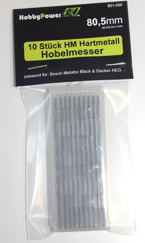 10 Stü ck HM Hartmetall Hobelmesser 80,5mm fü r Hobel ELU MFF40, MFF80K, MFF80, MFF81, MFF81K Hobbypower24