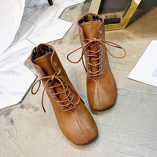 Botines Mujer Tacon Alto, ZARLLE Mujer Retro Atractivo Moda Invierno Boots Botas Zapatos De Altas Tacón Alto Casual Zapatillas Moda Botines low boots ...