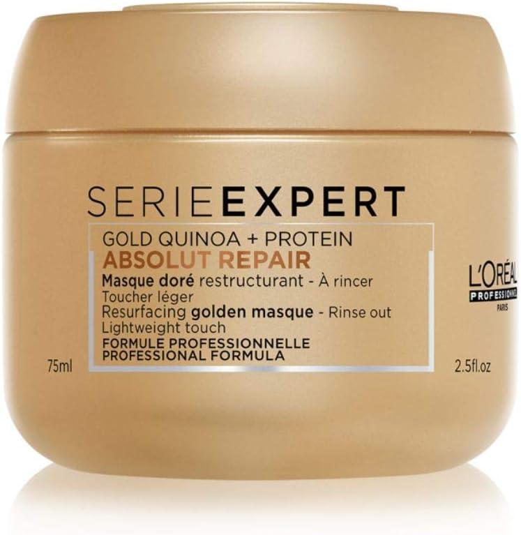 LOréal Professionnel Série Expert Absolut Repair Gold Quinoa + Protein Instant Resurfacing Masque - Mascarilla intensiva reparadora 75 ml