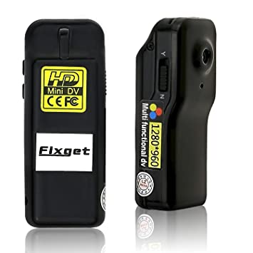 fixget Mini cámara oculta, portátil 1280P infrarrojos cuerpo ...