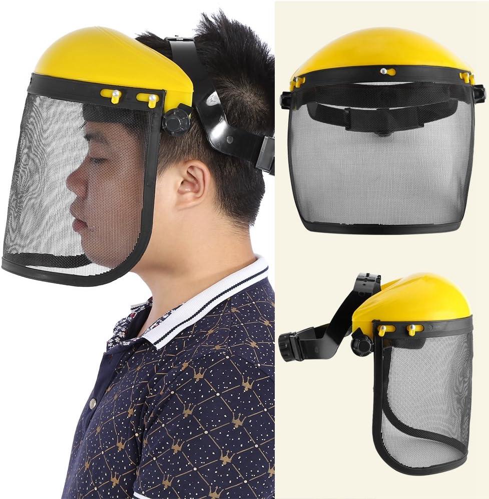 Yinuoday Protokollierung Helm Hut Vollgesichtsschutz Schutzmaske mit Mesh-Visier f/ür Kettens/äge Garten Protokollierung Freischneider Forstwirtschaft