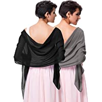 Kate Kasin Soft Chiffon Pashmina Scarf Shawls and Wraps for Formal Evening Party Dress, Bride Bridesmaid Shawl for…