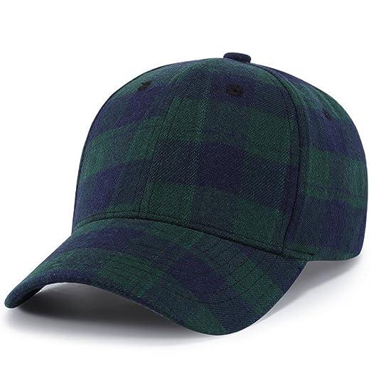 fb5dad44a5598 PLENTOP 2019 Men Women Baseball Plaid Cap Snapback Hat Hip-Hop Adjustable GN