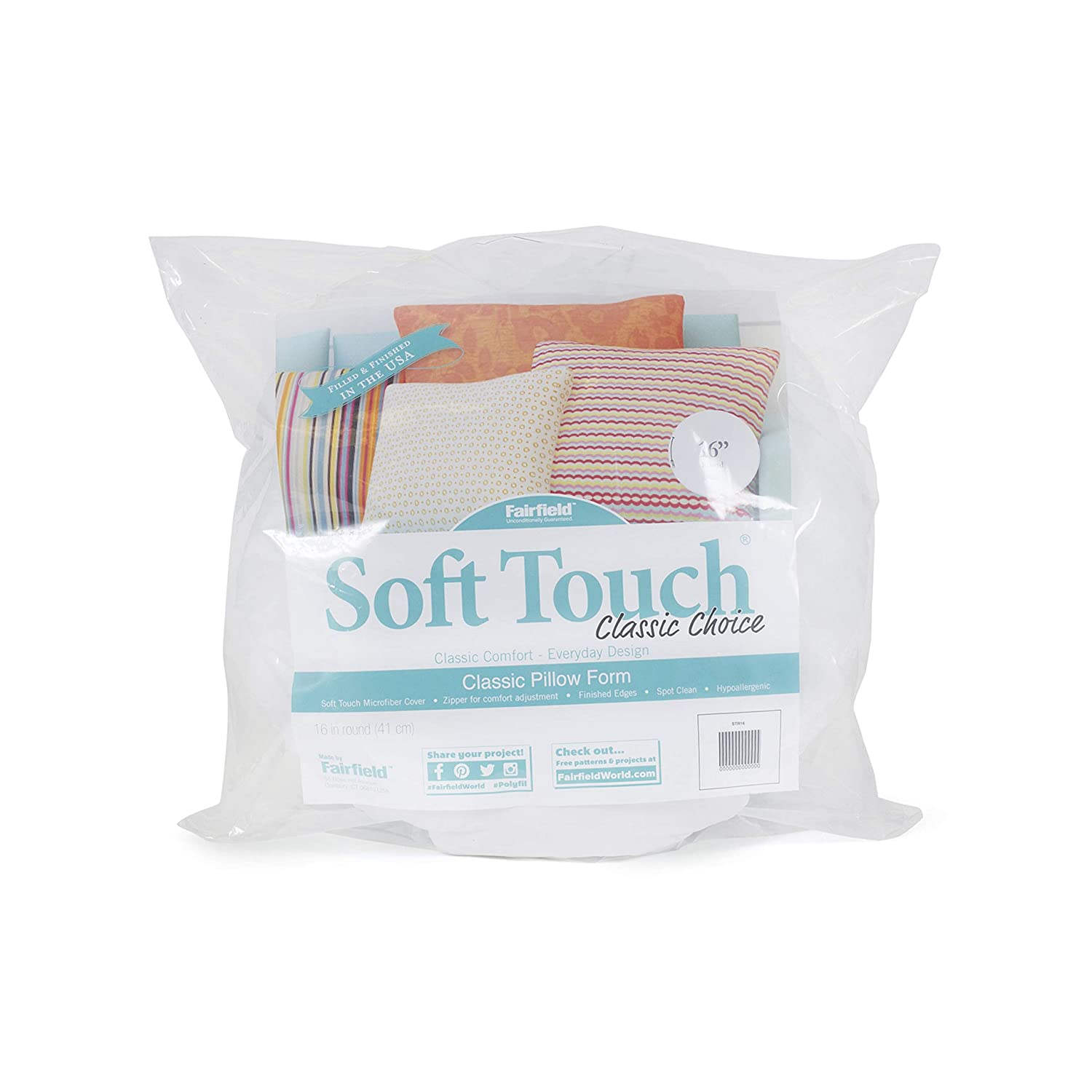 16-Inch Fairfield Soft Touch Round Pillow