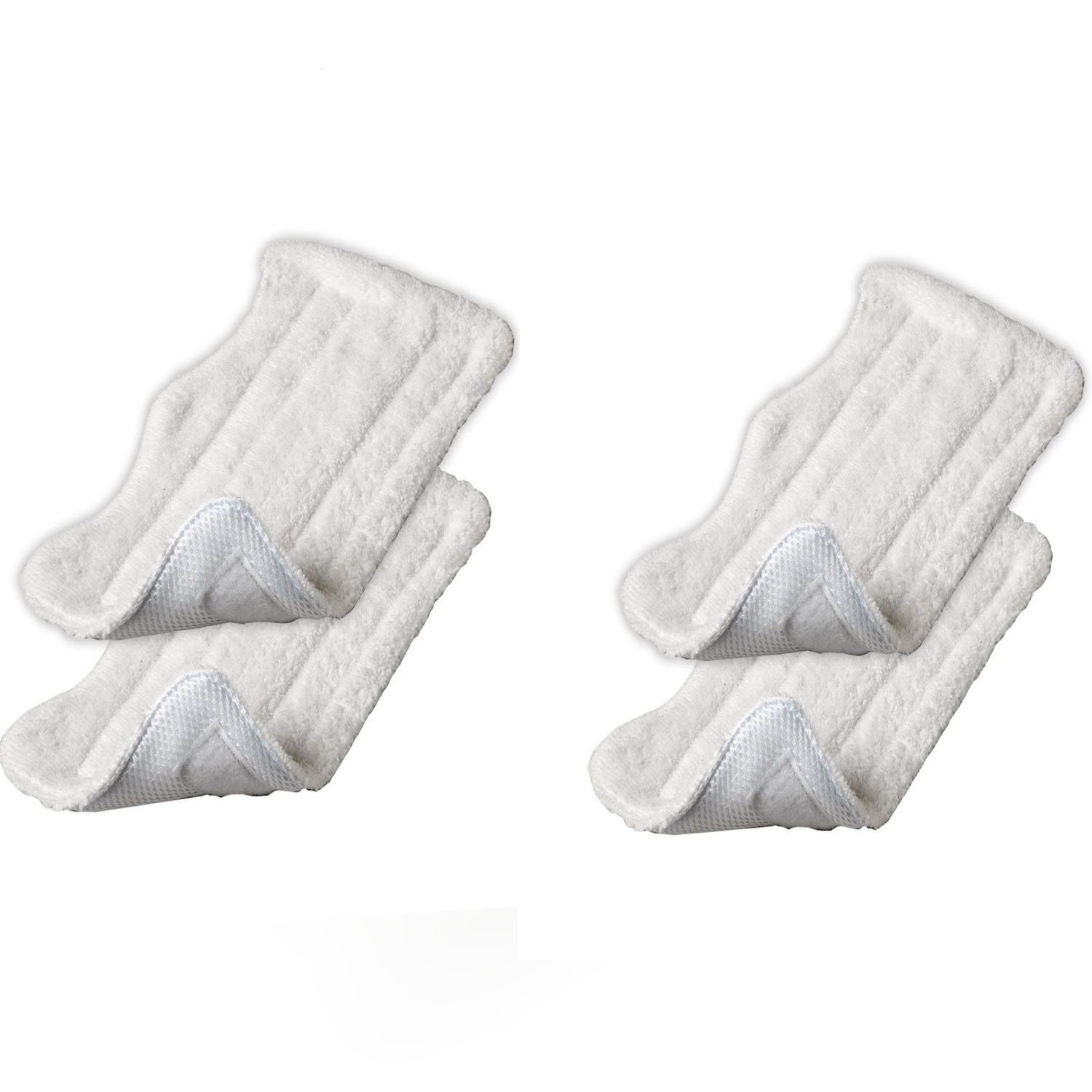 4 Pack Steam Mop Pads for Shark Steam and Spray Mop XT3010, S3111, S1001, S3101, SP100K, S3250, S3251, S3202, SE200, SP100Q