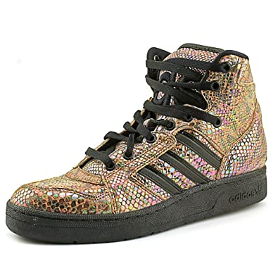 45501a5f8911 Image Unavailable. Image not available for. Color  adidas Men ObyO JS  Instinct High Rainbow - Jeremy Scott ...