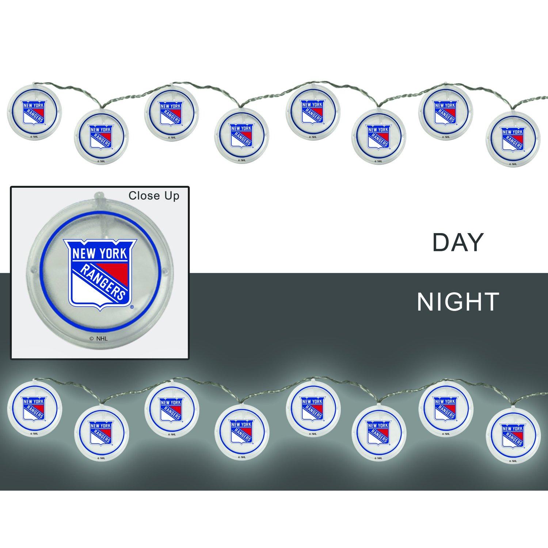 Team Sports America New York Rangers Outdoor Safe Battery Powered String Light Set