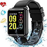 Fitness watch,Colour screen fitness tracker with IP68 Waterproof level, Heart Rate Monitor,Sleep Monitor,Calorie Counter, Activity Tracker, Call and Message Reminder for Women and Men for Android iOS