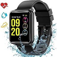 Smartwatch Impermeabile IP68, Seneo Smart Watch Orologio Fitness Tracker Cardiofrequenzimetro, Pedometro, Monitor del Sonno, Braccialetto Activity Fitness Watch Smartwatch Android iOS per Donna Uomo
