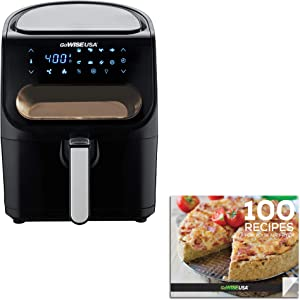 GoWISE USA GW22953 4-Quart Air Fryer with Viewing Window and 8 Presets, 4.6, Black