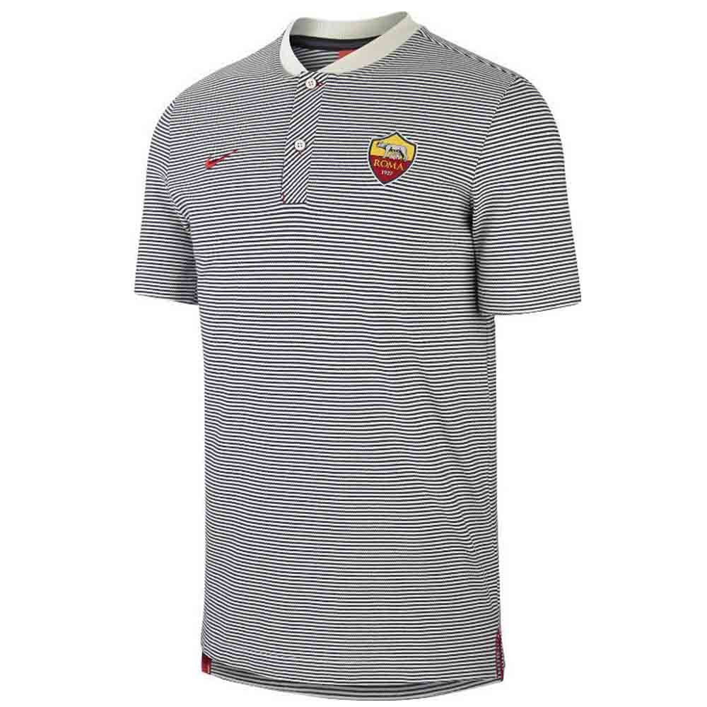 Nike 2017-2018 AS Roma Authentic Grand Slam Polo Shirt (Light Bone ...