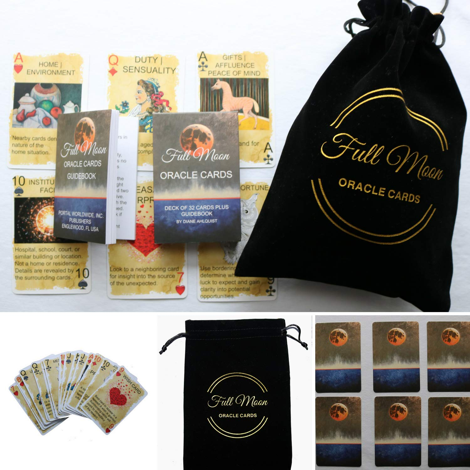 Full Moon Oracle Cards Pouch by Author of Moon Spells Diane Ahlquist (Image #1)