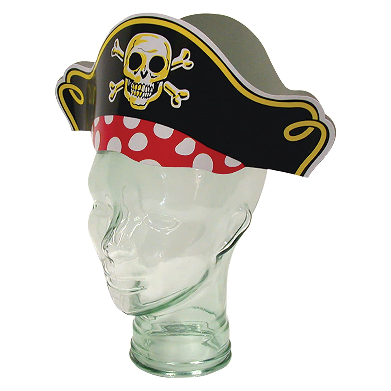 Pirate Captain Party Hats 12 Pack