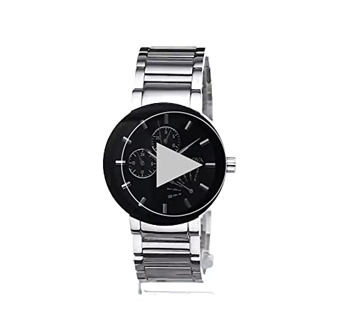 Bulova Men's Stainless Steel Black Dial Watch