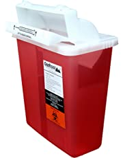 Oakridge 5 Quart - Sharps Disposal Container with Mailbox Style Lid
