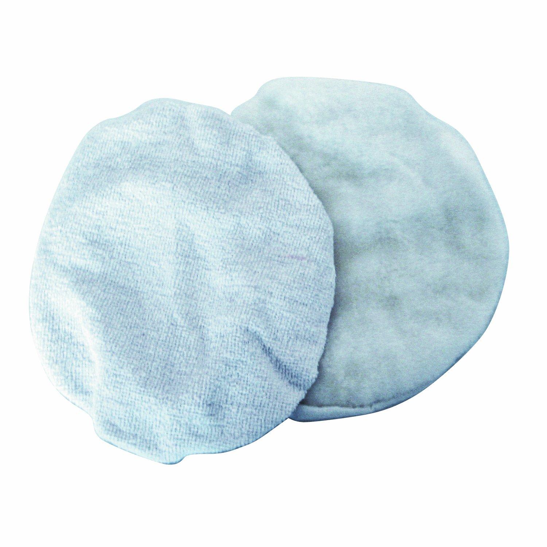Cartrend 30106 Bonnets de polissage en fourrure synthé tique, 2 piè ces 2 pièces