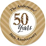 Custom We Still Do   50th Wedding Anniversary   Personalized Anniversary  Party Circle Sticker Labels
