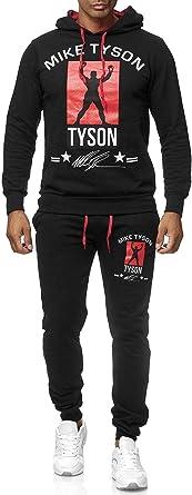 Chándal de Hombre de Dos Piezas Mike Tyson, Color:Negro, Talla ...