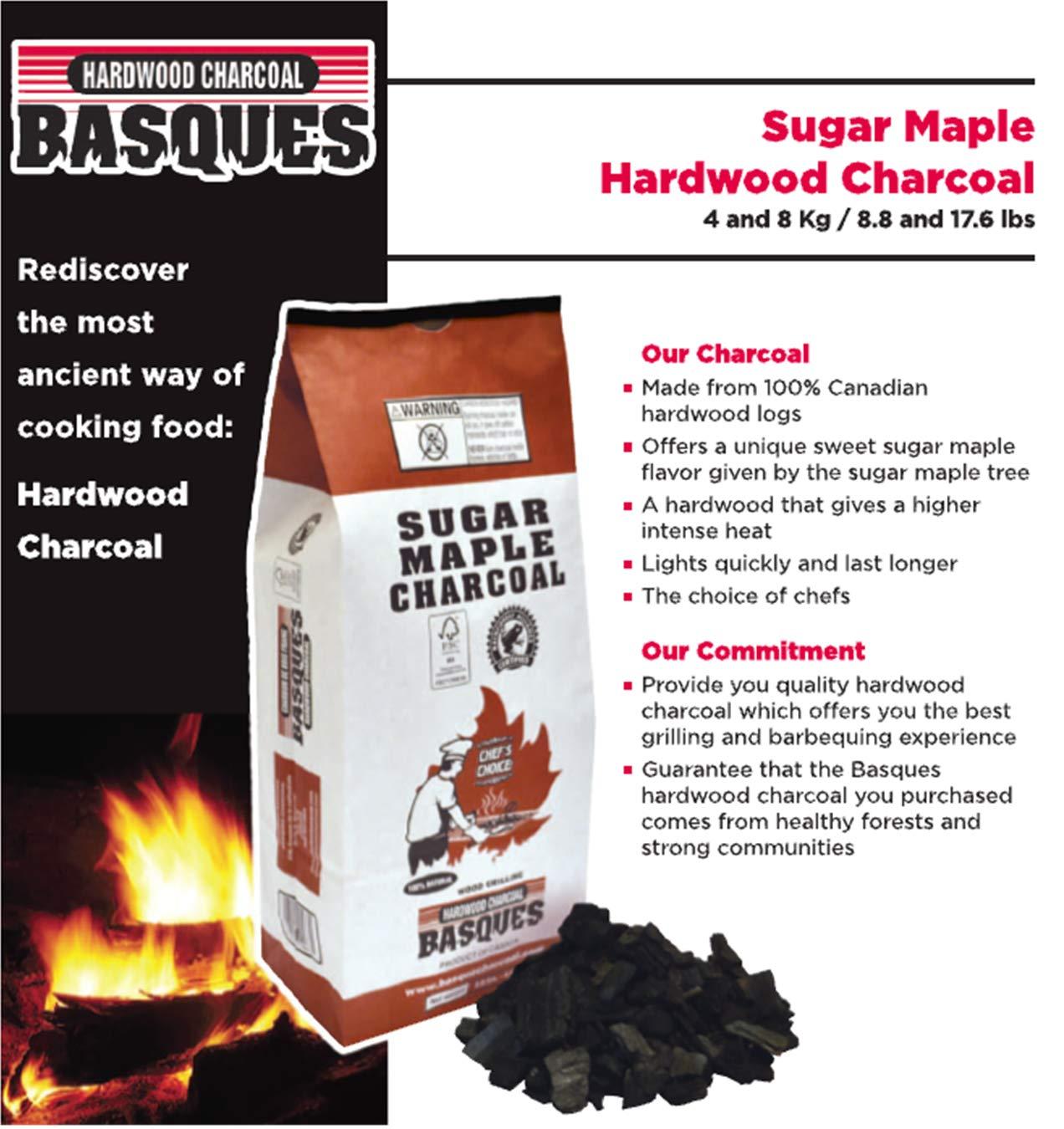 Basques Hardwood Chacoa 61553 Sugar Maple Lump Charcoal, 17.6 Lbs by Basques Hardwood Chacoal