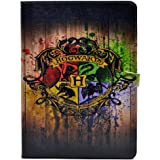 Unique Hogwarts School Watercolor Art Pattern Leather Flip Stand Case Cover For Apple ipad Air II 2