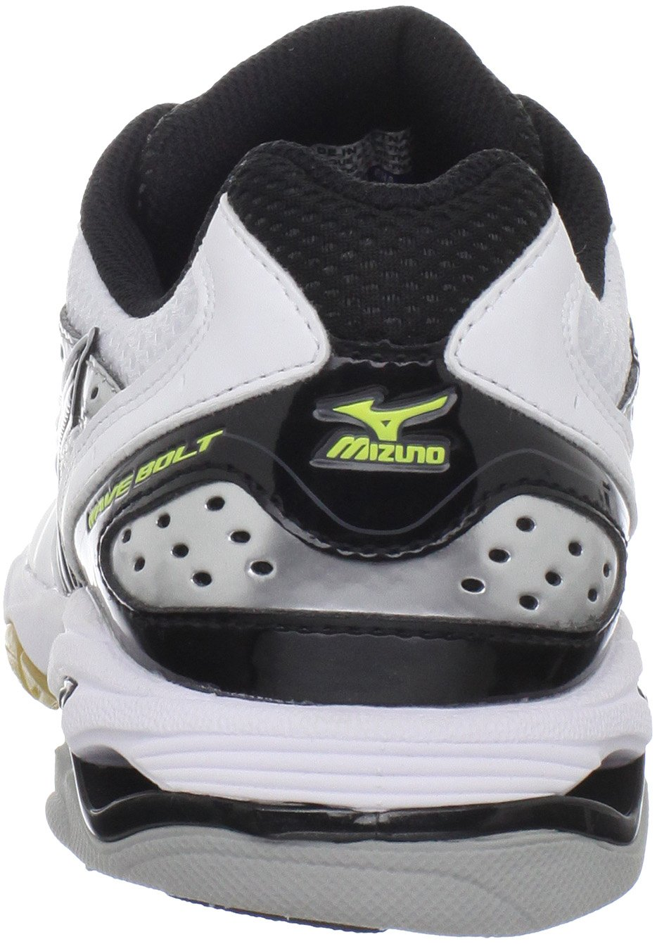 Mizuno Women's Wave Bolt Volleyball Shoe,White/Black,9 M US by Mizuno (Image #2)