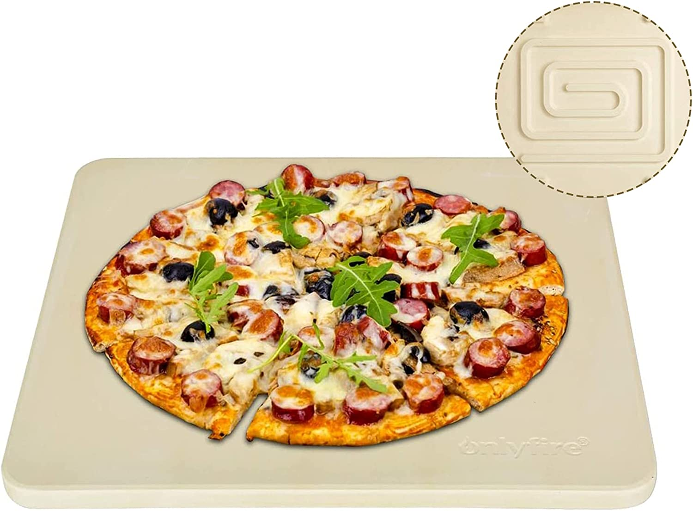 Onlyfire Heavy Duty Ceramic Pizza Grilling Stone, 14