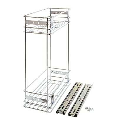 200mm Slide Pull Out Wire Basket Kitchen Larder Base Unit Cabinet