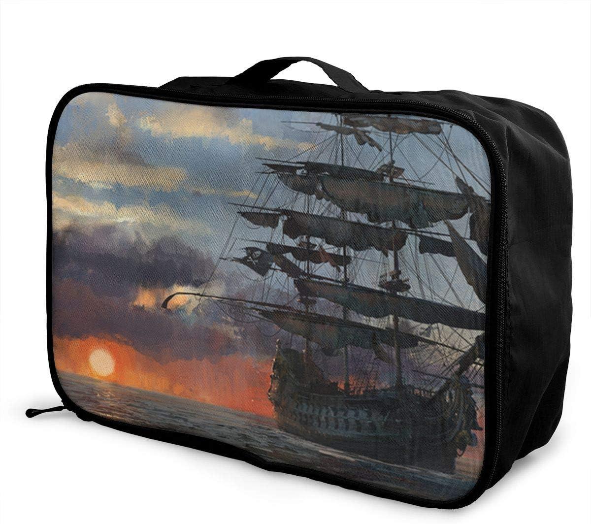 Amp-bones-sea Travel Carry-on Luggage Weekender Bag Overnight Tote Flight Duffel In Trolley Handle