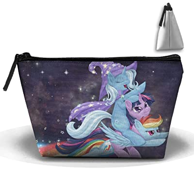 Magical Unicorn Witch Personality Portable Women Trapezoid Travel Bag Cosmetic Bag Receive Bag