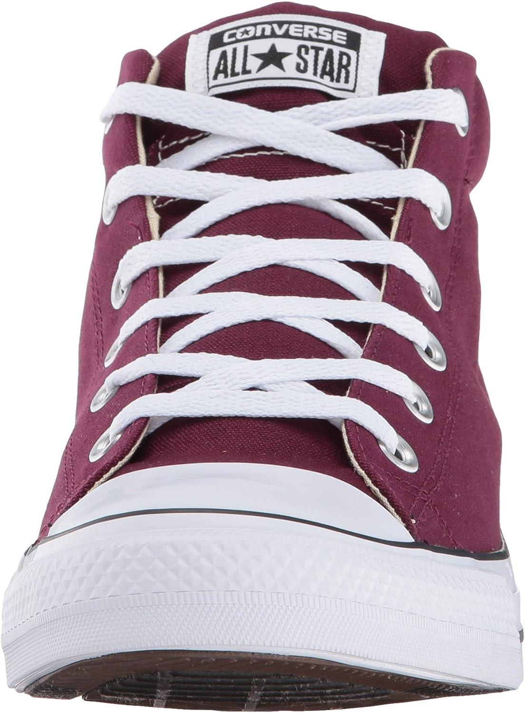 Converse Men\'s Street Leather High Top Sneaker Dark Sangria Black