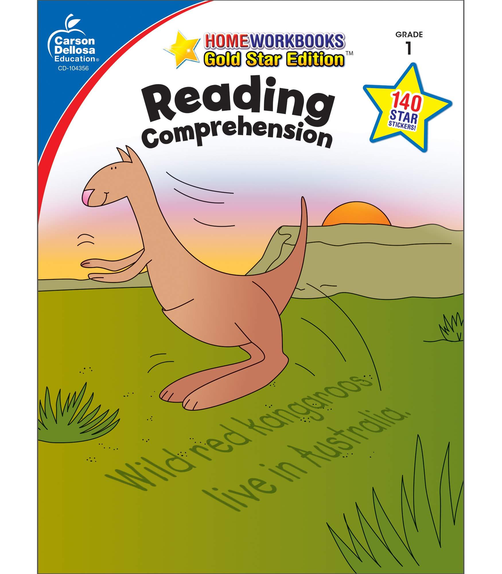 - Carson Dellosa Reading Comprehension Workbook 1st Grade, 64pgs