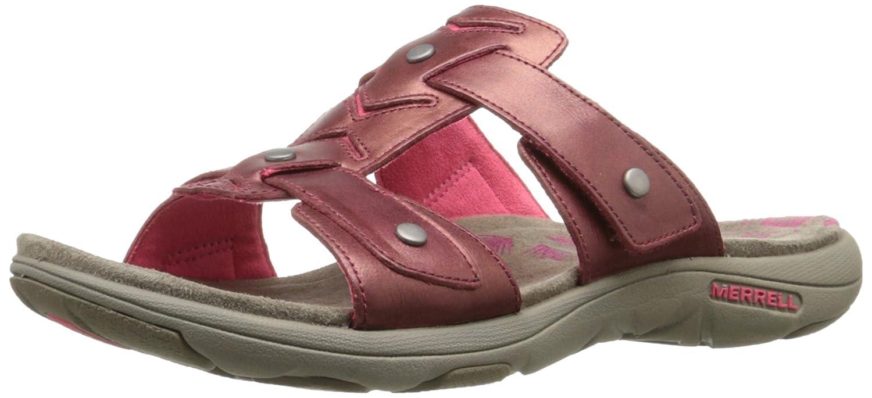 17264dad7972 Merrell Women s Adhera Slide Sandal Cranberry 10 B(M) US  Amazon.in  Shoes    Handbags