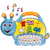 BeebeeRun Baby Musical Toys, Electronic Kids Musical Instruments Keyboard Piano Drum Set Learning Light Up Toy for…